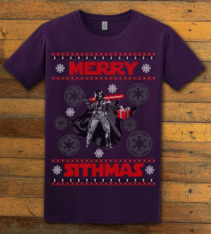 Merry Sithmas Graphic T-Shirt - purple shirt design