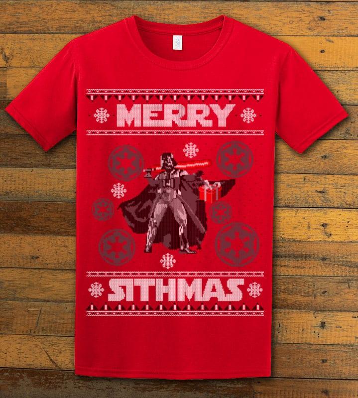 Merry Sithmas Graphic T-Shirt - red shirt design