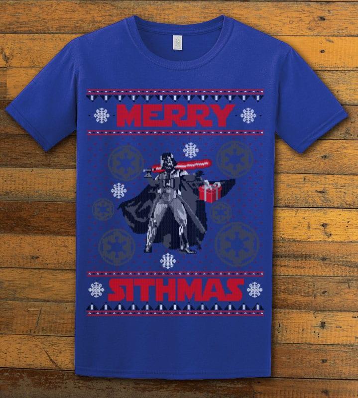 Merry Sithmas Graphic T-Shirt - royal shirt design
