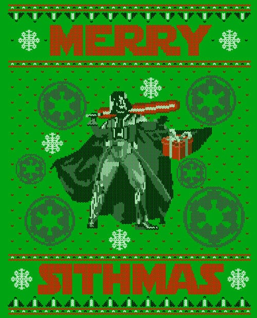 Merry Sithmas Graphic T-Shirt - main vector design