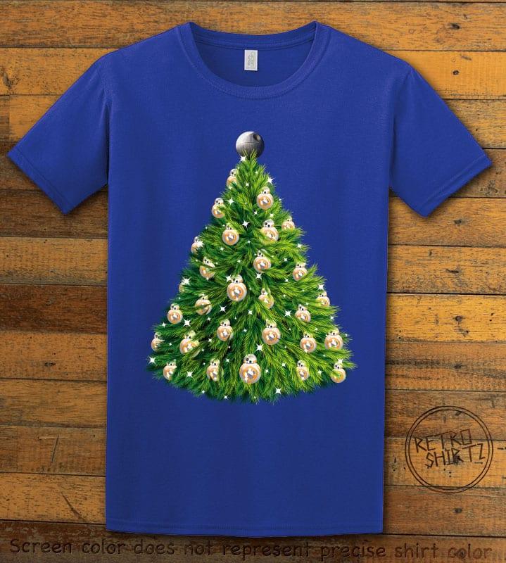 BB8 Christmas Tree Graphic T-Shirt - royal shirt design