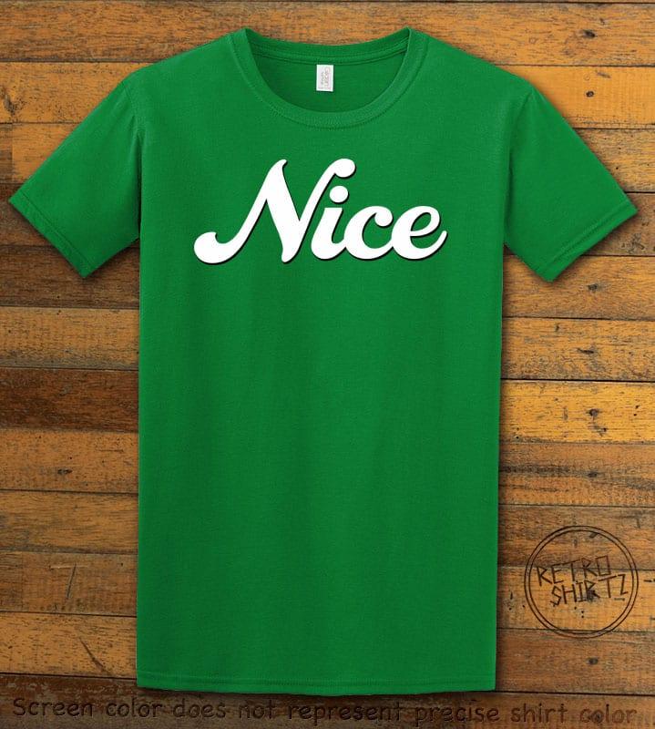 Nice Graphic T-Shirt - green shirt design