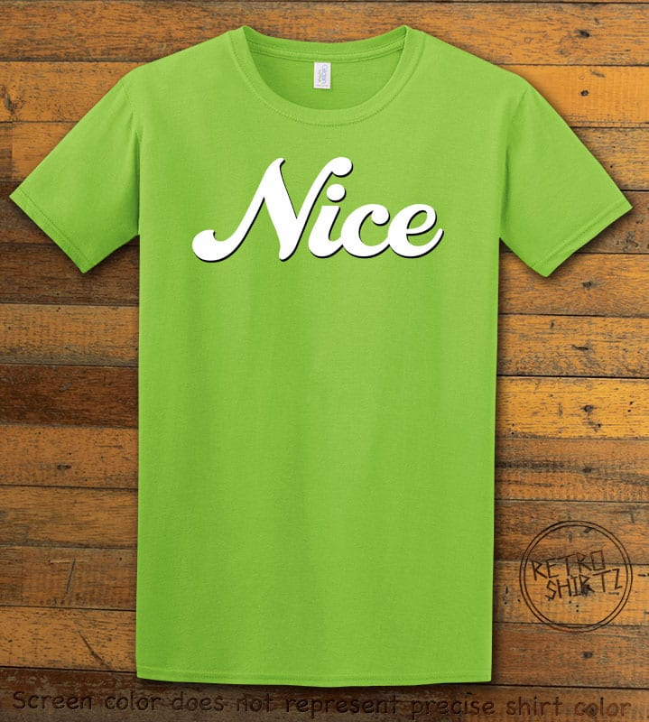 Nice Graphic T-Shirt - lime shirt design