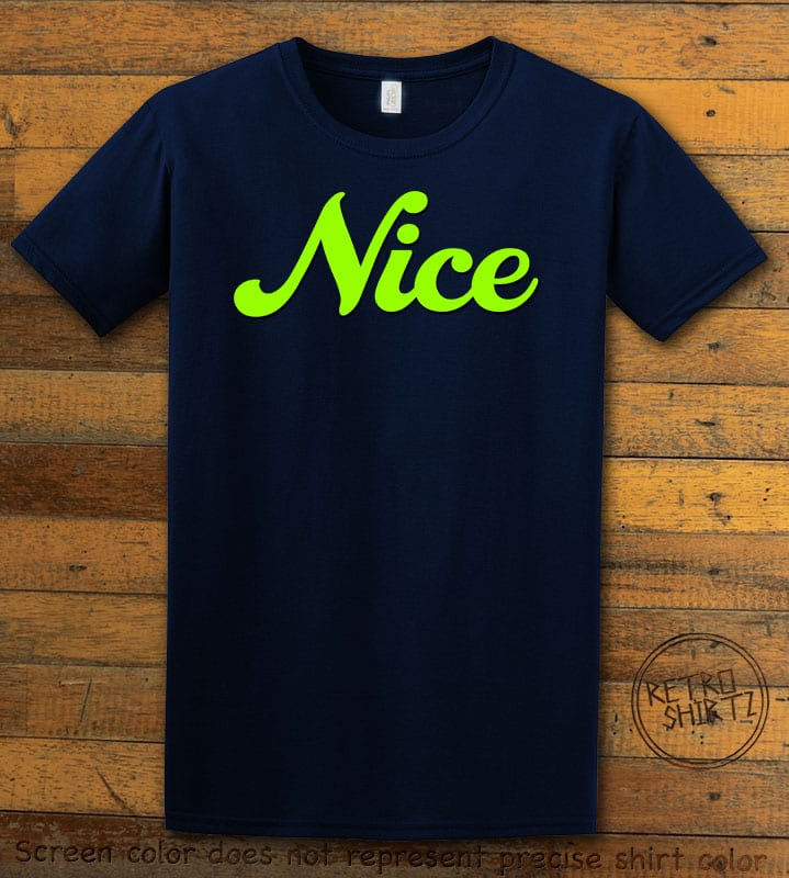 Nice Graphic T-Shirt - navy shirt design