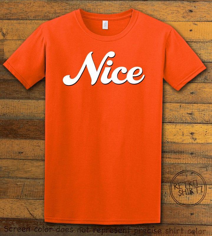 Nice Graphic T-Shirt - orange shirt design