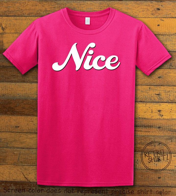 Nice Graphic T-Shirt - pink shirt design