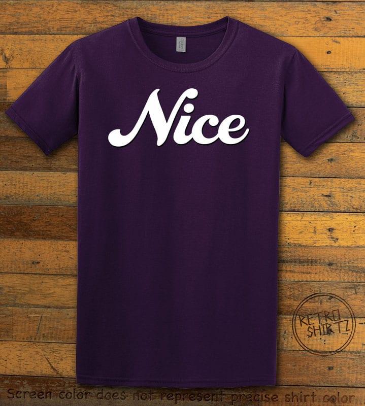 Nice Graphic T-Shirt - purple shirt design