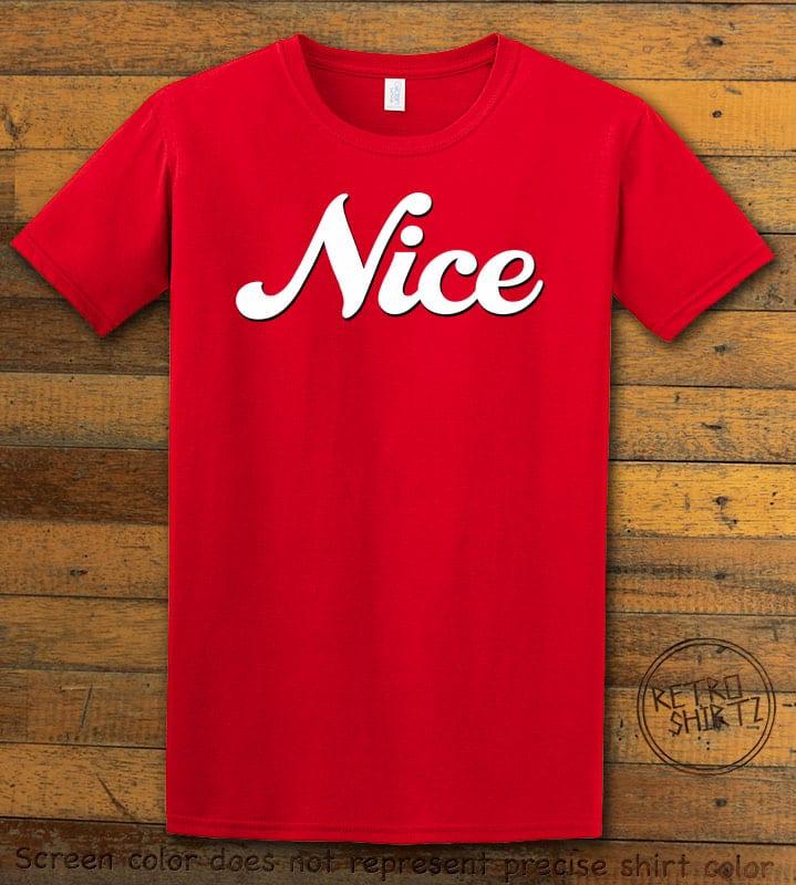 Nice Graphic T-Shirt - red shirt design