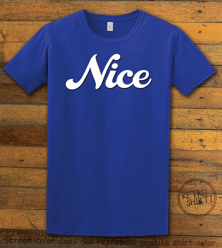 Nice Graphic T-Shirt - royal shirt design