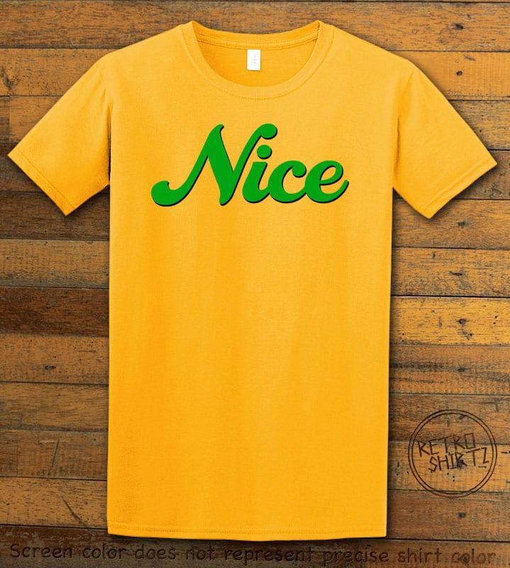 Nice Graphic T-Shirt - yellow shirt design