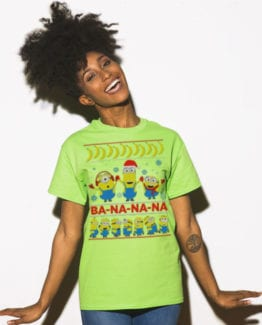 Ba - Na - Na - Na Graphic T-Shirt - lime shirt on a model