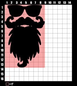 staching vector dimensions