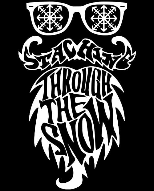 Staching Through the Snow - Graphic T-Shirt - main vector design