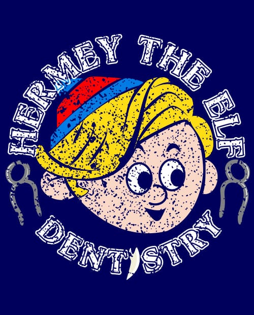 Hermey the Elf Dentistry - Graphic T-Shirt - main vector design