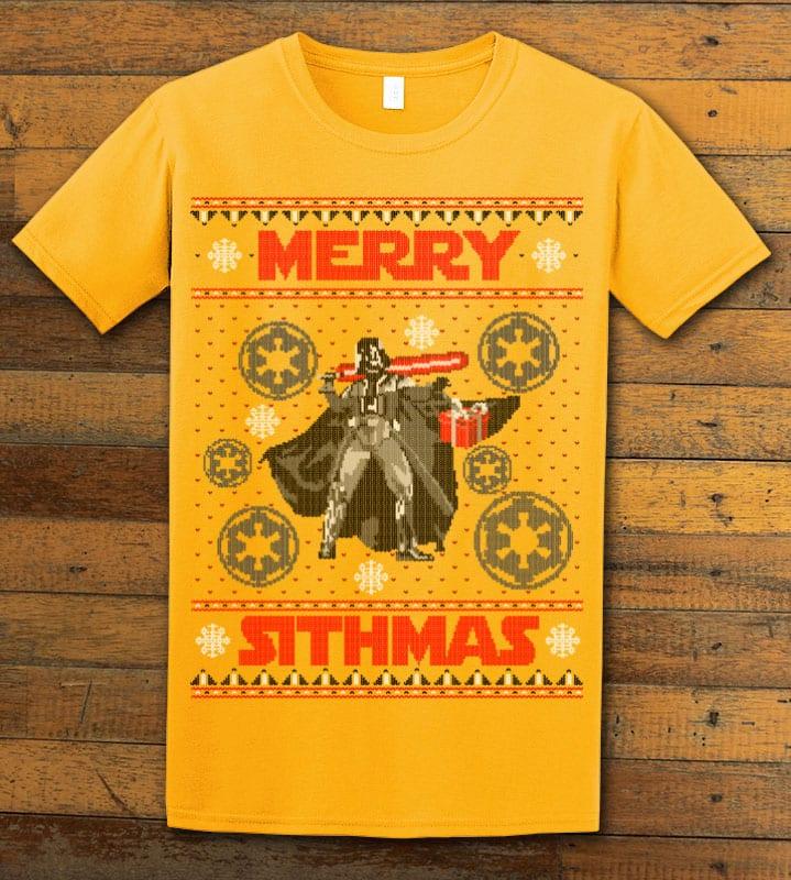 Merry Sithmas Graphic T-Shirt - yellow shirt design