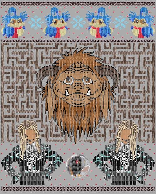 Labyrinth Graphic T-Shirt main vector design