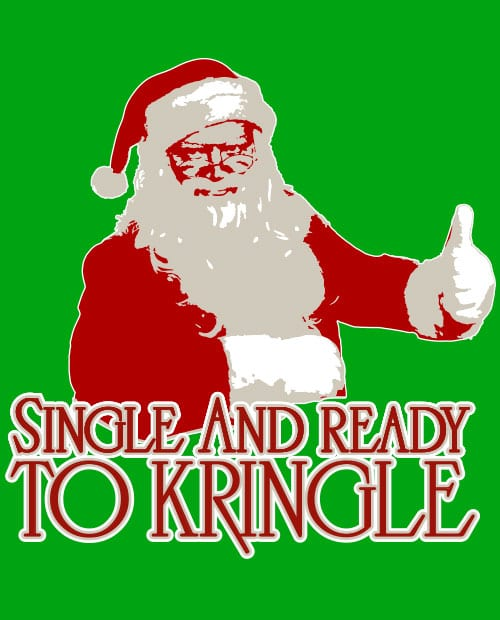 Single and Ready to Kringle Graphic T-Shirt main vector design