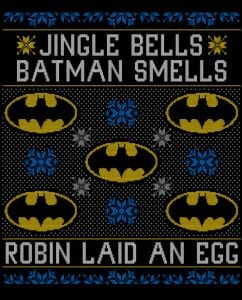 Jingle Bells Batman Smells Robin Laid An Egg Graphic T-Shirt main vector design