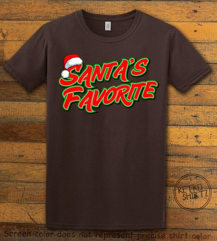 Santa's Favorite - Graphic T-Shirt - brown shirt design