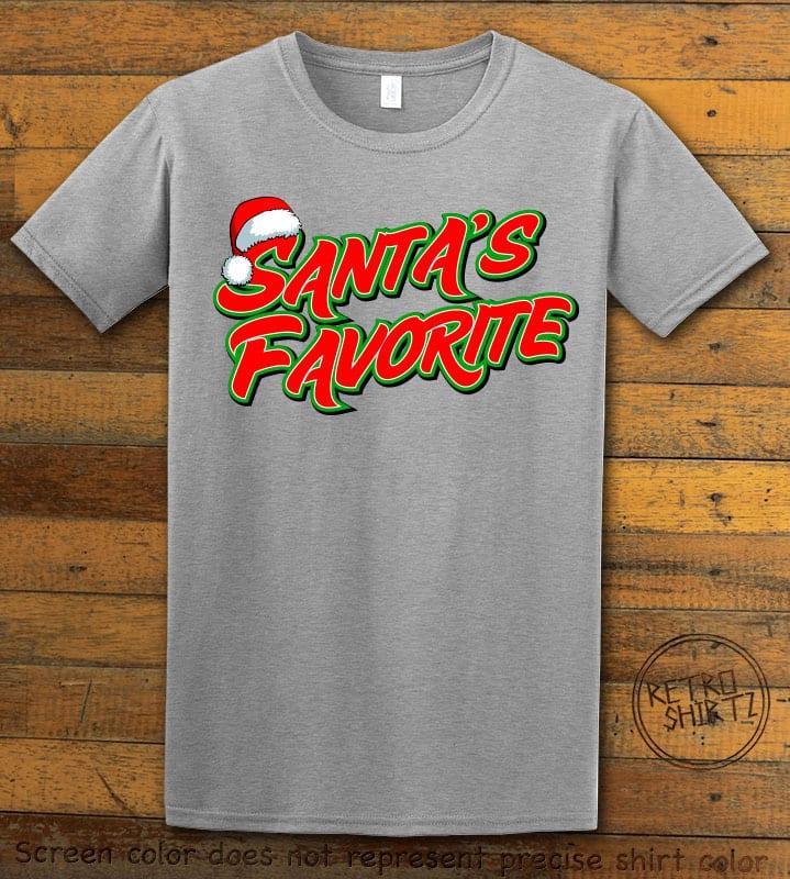 Santa's Favorite - Graphic T-Shirt - grey shirt design