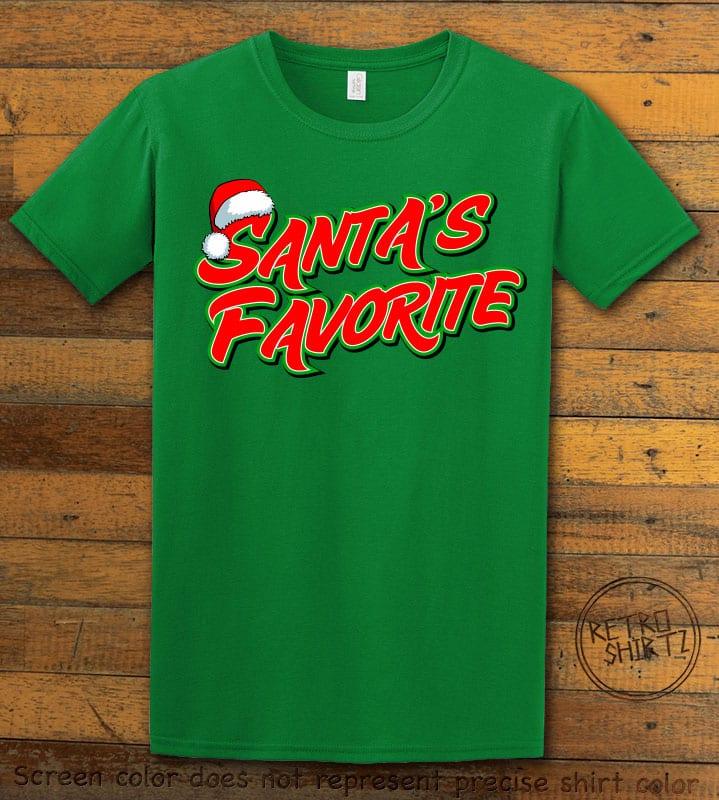Santa's Favorite - Graphic T-Shirt - green shirt design