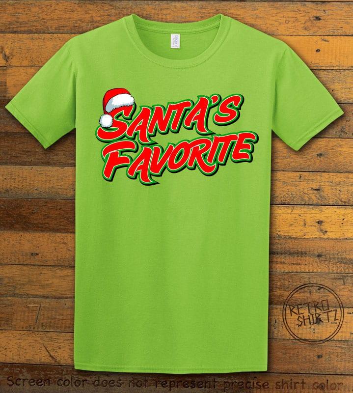 Santa's Favorite - Graphic T-Shirt - lime shirt design