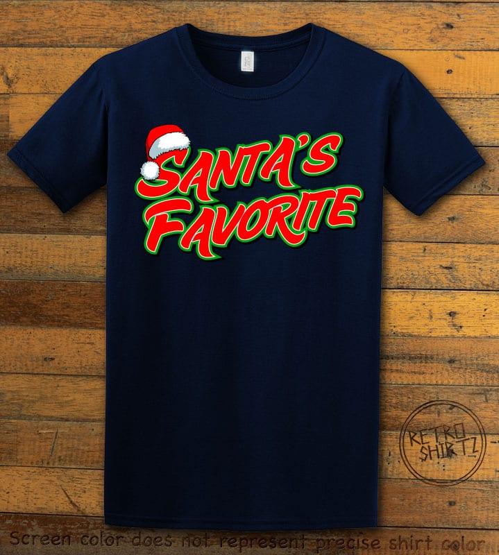 Santa's Favorite - Graphic T-Shirt - navy shirt design