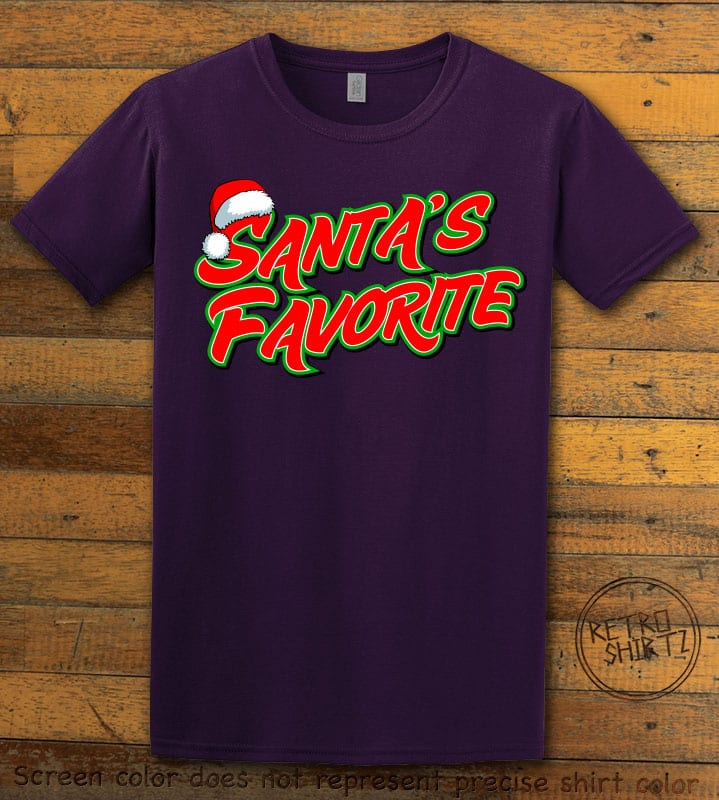 Santa's Favorite - Graphic T-Shirt - purple shirt design