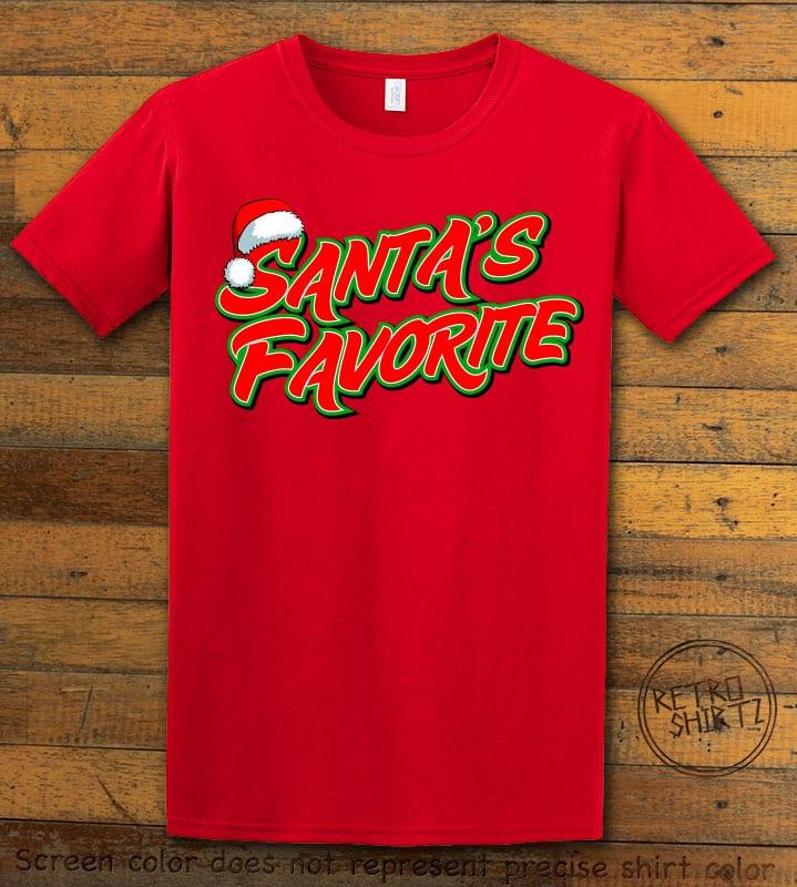 Santa's Favorite - Graphic T-Shirt - red shirt design