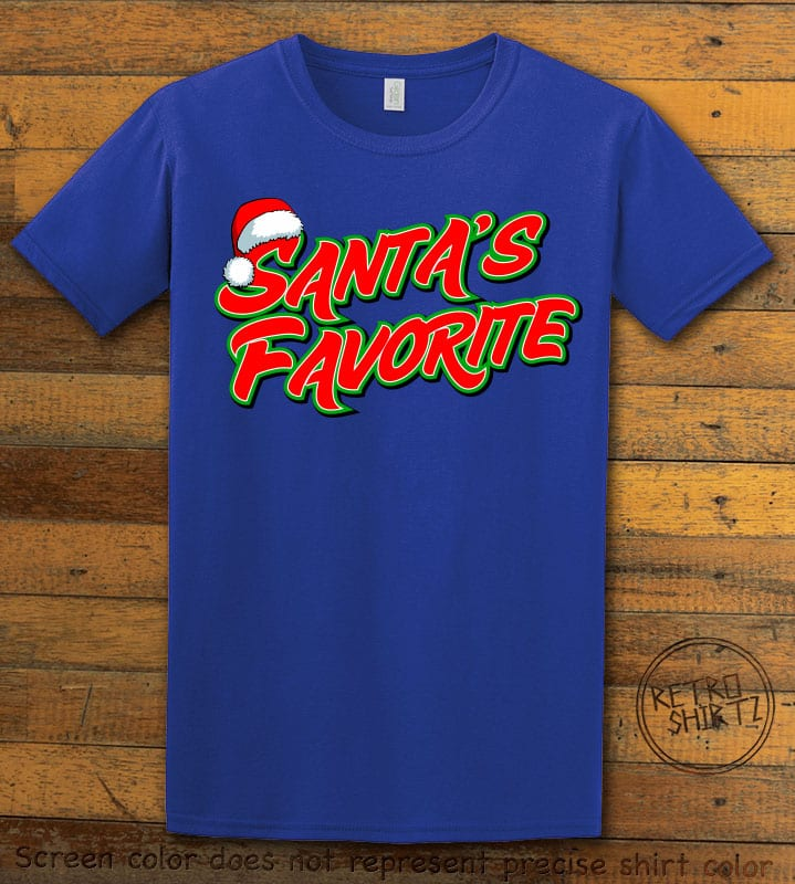 Santa's Favorite - Graphic T-Shirt - royal shirt design