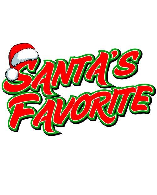 Santa's Favorite - Graphic T-Shirt - main vector design