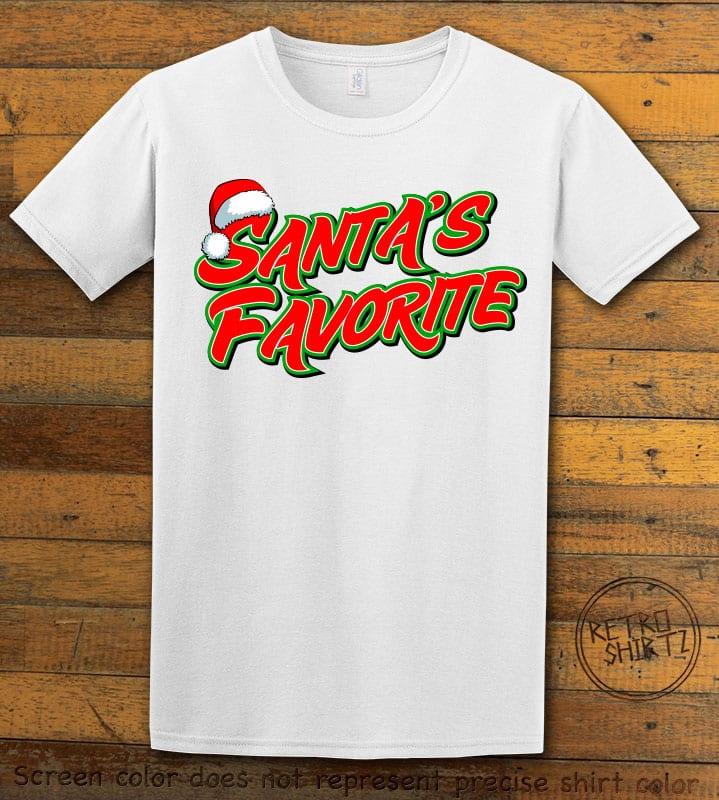 Santa's Favorite - Graphic T-Shirt - white shirt design