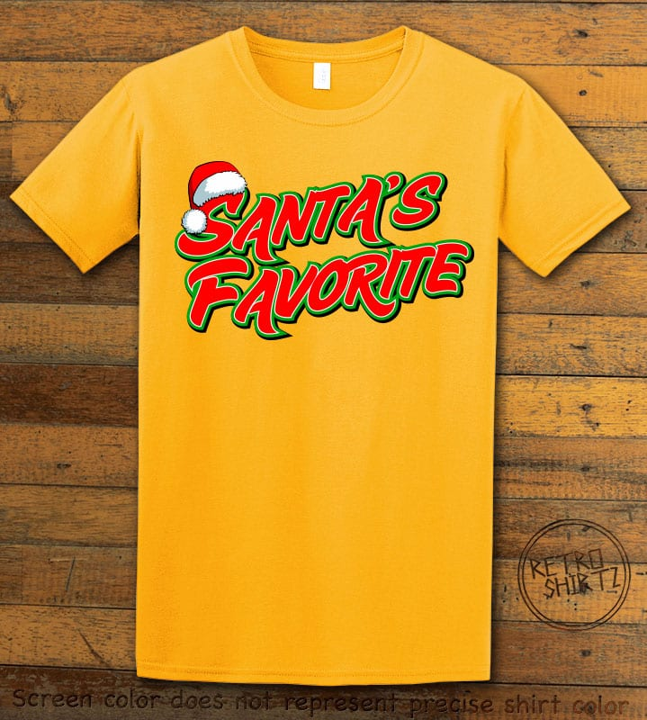 Santa's Favorite - Graphic T-Shirt - yellow shirt design