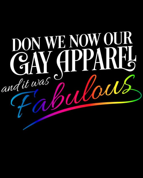 Don We Now Our Gay Apparel Graphic T-Shirt main vector design