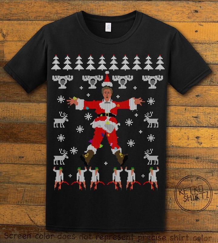 Christmas Vacation Cover Graphic T-Shirt - black shirt design