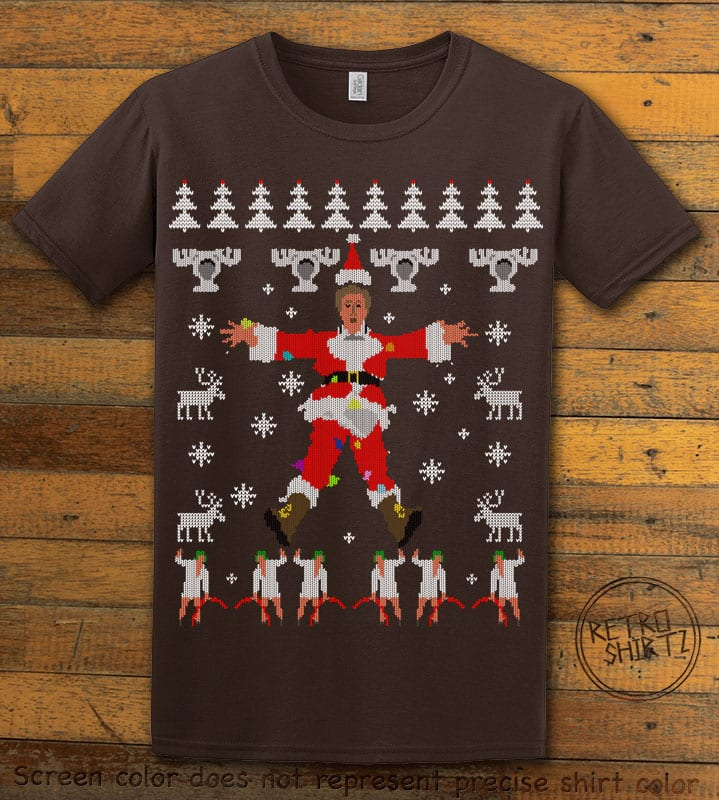 Christmas Vacation Cover Graphic T-Shirt - brown shirt design