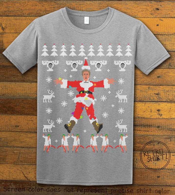Christmas Vacation Cover Graphic T-Shirt - grey shirt design