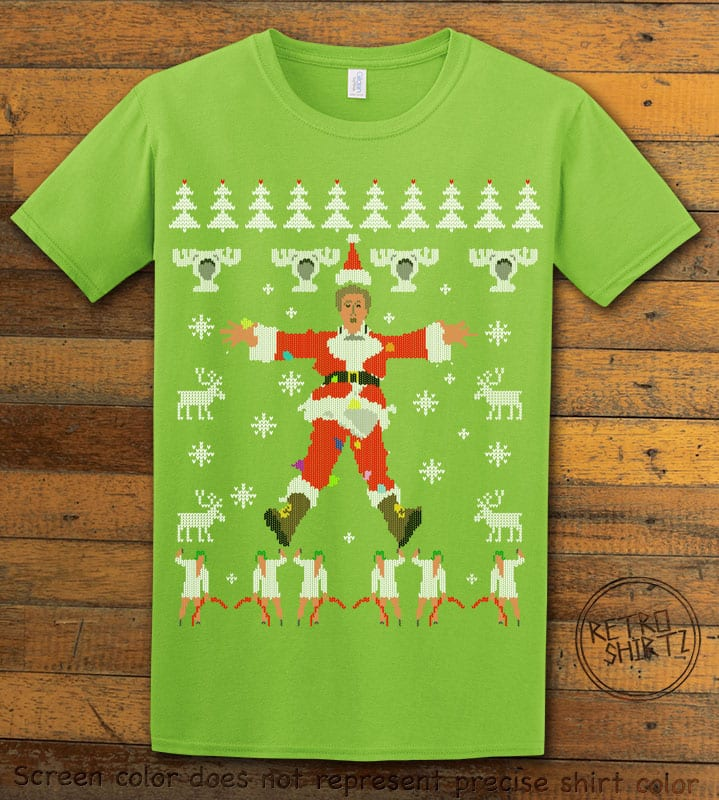 Christmas Vacation Cover Graphic T-Shirt - lime shirt design
