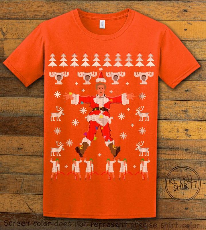 Christmas Vacation Cover Graphic T-Shirt - orange shirt design