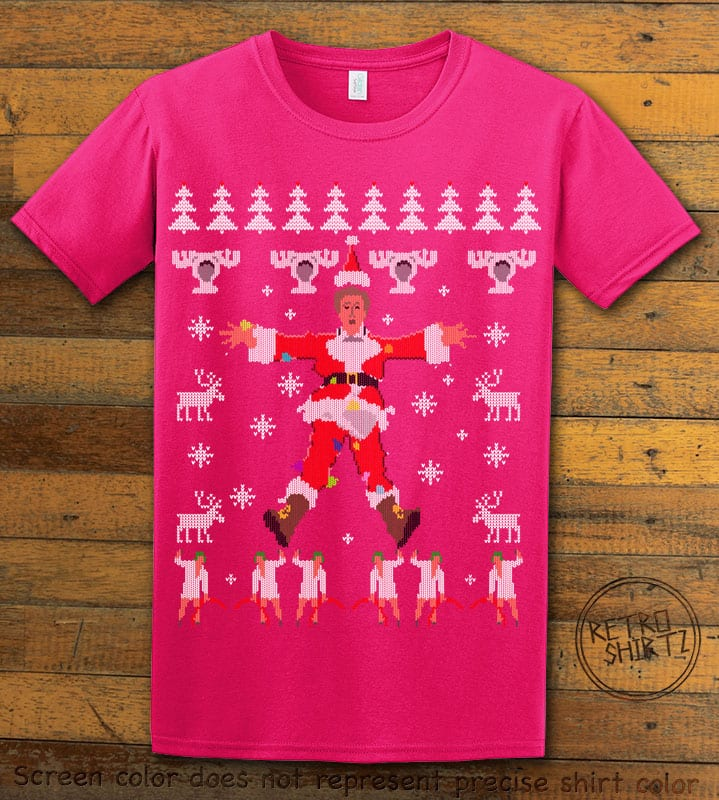 Christmas Vacation Cover Graphic T-Shirt - pink shirt design