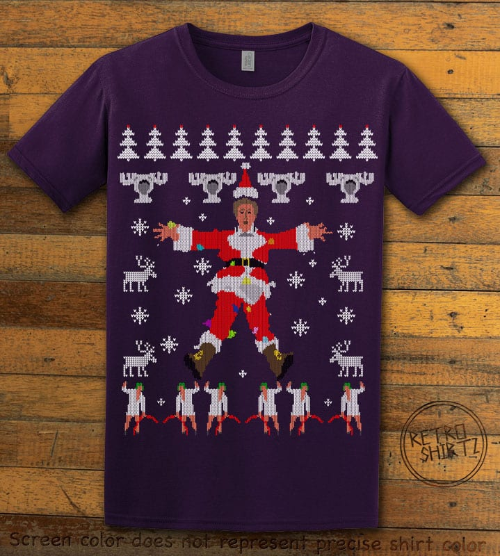 Christmas Vacation Cover Graphic T-Shirt - purple shirt design