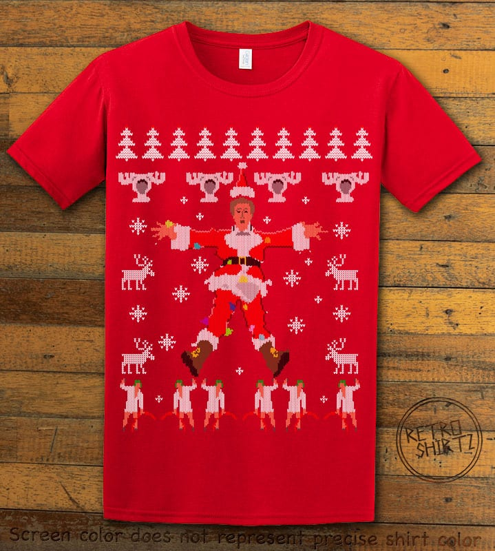 Christmas Vacation Cover Graphic T-Shirt - red shirt design