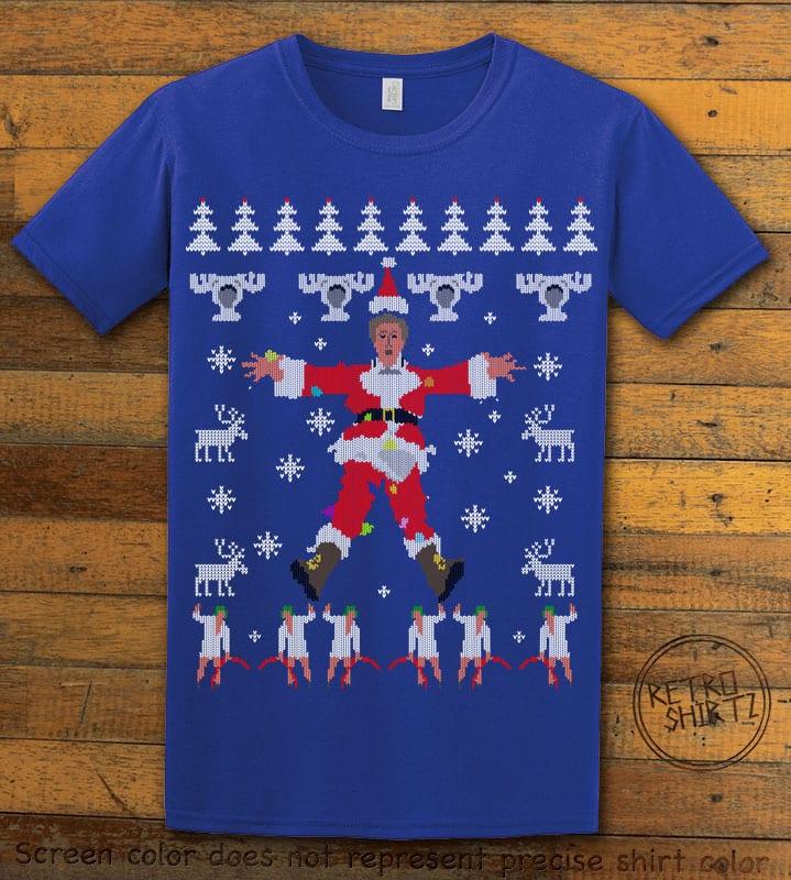 Christmas Vacation Cover Graphic T-Shirt - royal shirt design