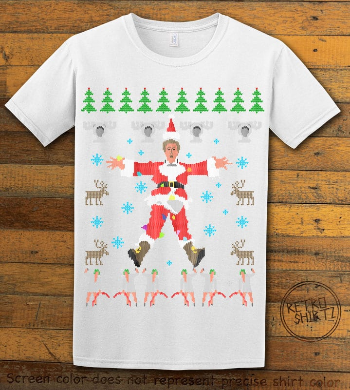 Christmas Vacation Cover Graphic T-Shirt - white shirt design