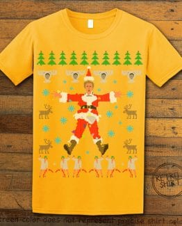 Christmas Vacation Cover Graphic T-Shirt - yellow shirt design
