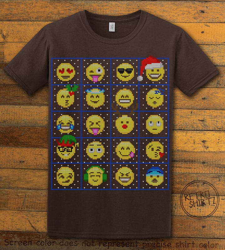 Emoji Graphic T-Shirt - brown shirt design