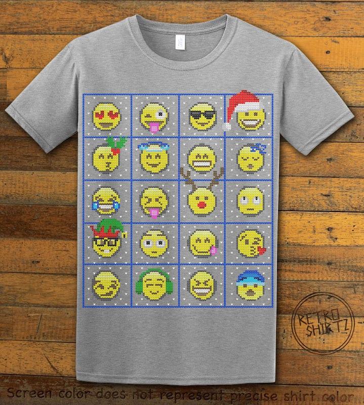 Emoji Graphic T-Shirt - grey shirt design