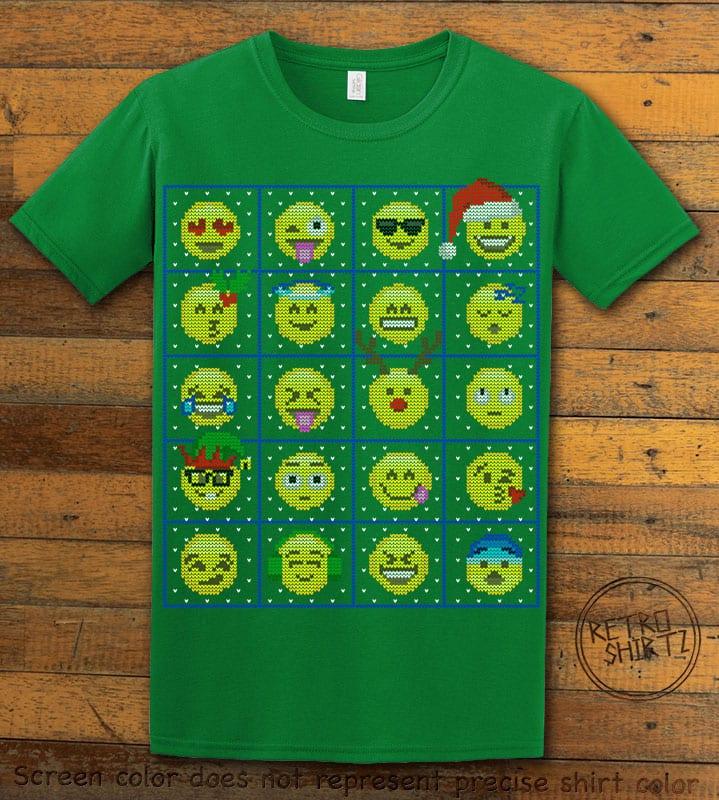 Emoji Graphic T-Shirt - green shirt design