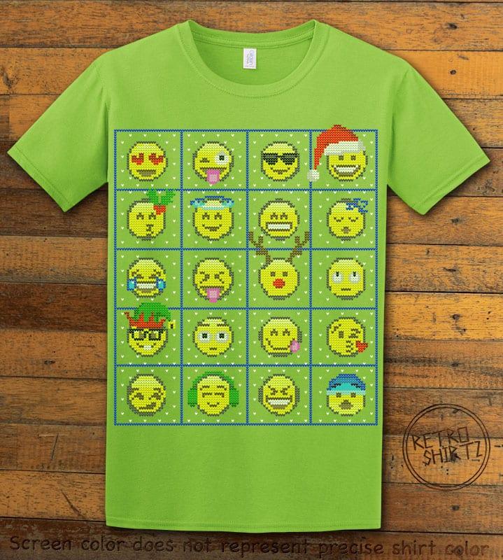 Emoji Graphic T-Shirt - lime shirt design