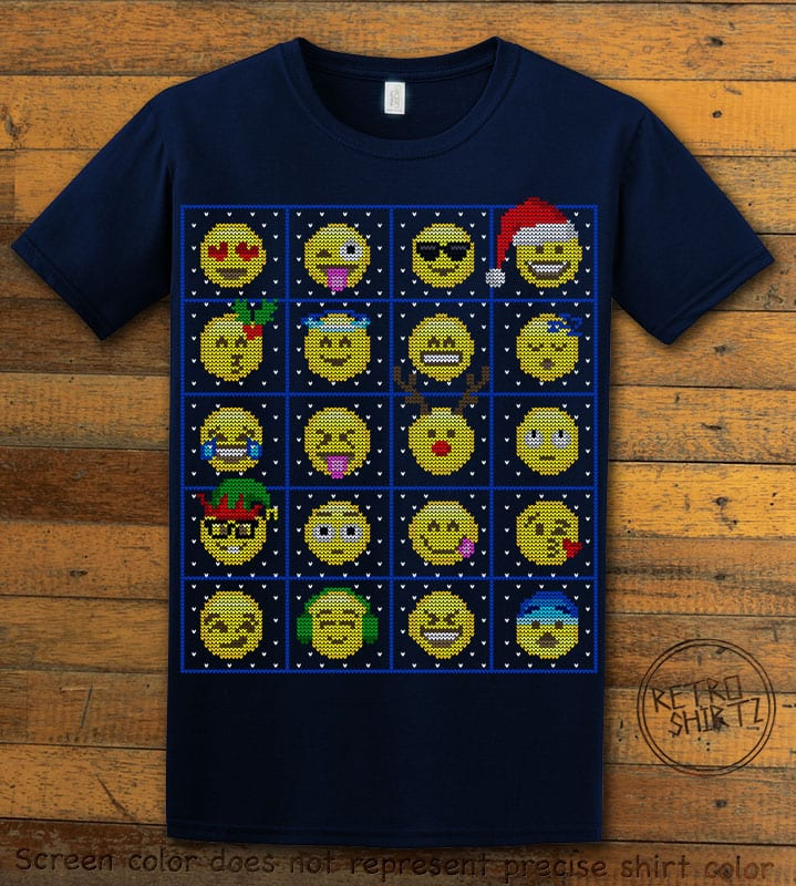 Emoji Graphic T-Shirt - navy shirt design